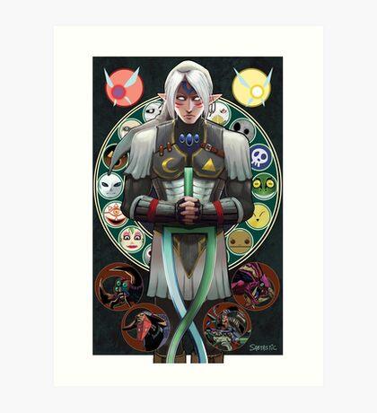 Fierce Deity Art Nouveau Link - Majora's Mask Art Print