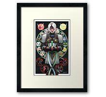 Fierce Deity Art Nouveau Link - Majora's Mask Framed Print