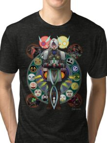Fierce Deity Art Nouveau Link - Majora's Mask Tri-blend T-Shirt