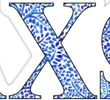 Alpha Chi Omega Sorority Blue Plant Design Sticker