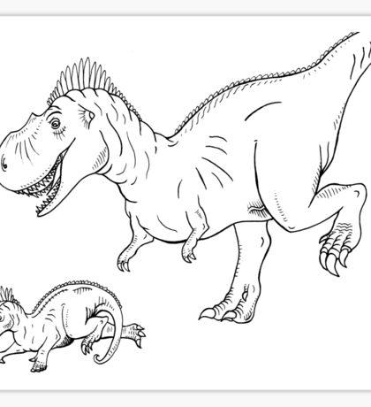 Dinosaur Chase Sticker