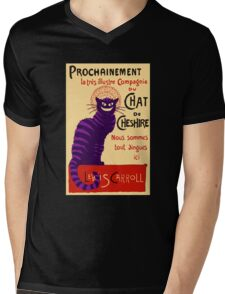 Chat de Cheshire Mens V-Neck T-Shirt