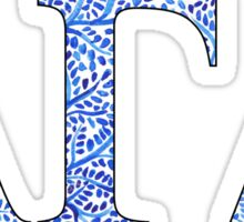 Alpha Gamma Delta Blue Plant Design Sticker