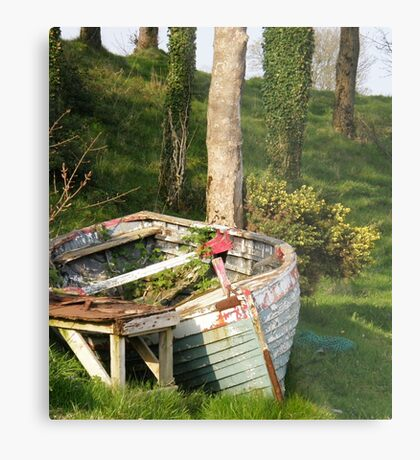 T'was a rough night last night Moville, Donegal, Ireland. Metal Print