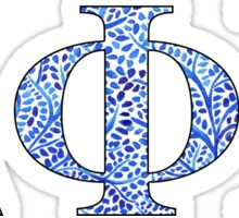 Delta Gamma Blue Plant Design Sticker