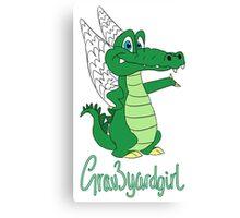 Grav3yardgirl Gator Design Canvas Print