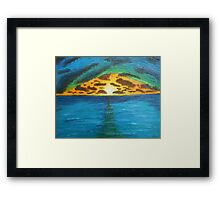 Sunset Over Troubled Waters Framed Print