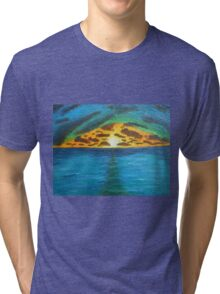 Sunset Over Troubled Waters Tri-blend T-Shirt
