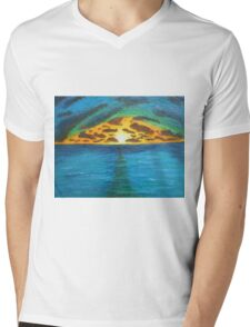 Sunset Over Troubled Waters Mens V-Neck T-Shirt