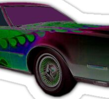 FLAMED 1974 LINCOLN CONTINENTAL MARK IV PURPLE ON GREEN Sticker