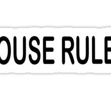 house rules- beer pong Sticker