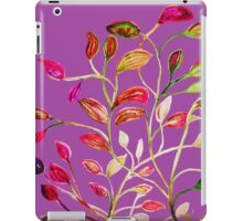 For Valentine's Day Enjoy Purple Plum, Red and Green Leaves! iPad Case/Skin