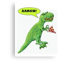 T-rex with Pizza Canvas Print