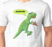 T-rex with Pizza Unisex T-Shirt