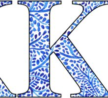 Kappa Kappa Gamma Blue Plant Design Sticker