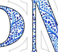 Phi Mu Blue Plant Design Sticker