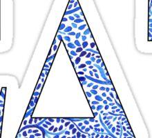 Sigma Delta Tau Blue Plant Design Sticker