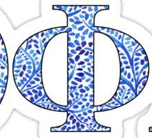 Theta Phi Alpha Blue Plant Design Sticker