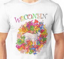 Psychedelic Wisconsin Kid Goat Unisex T-Shirt