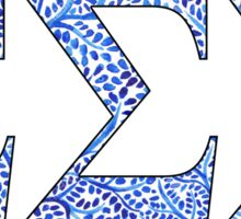 Sigma Sigma Sigma Blue Plant Design Sticker