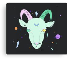 Cosmic Vegan Goat. Canvas Print