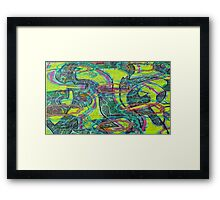 Neon Thoughts Framed Print