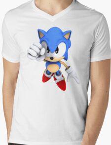 Classic Sonic Mens V-Neck T-Shirt