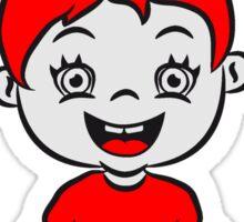 wc loo little girl sitting joy Sticker