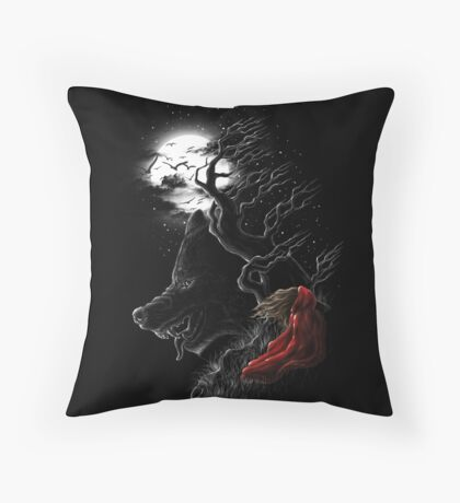 Red Walking Misfits  Throw Pillow