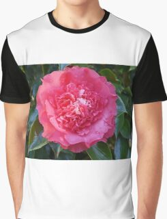 Double Pink Camelia Graphic T-Shirt
