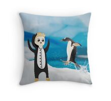 luke penguin Throw Pillow