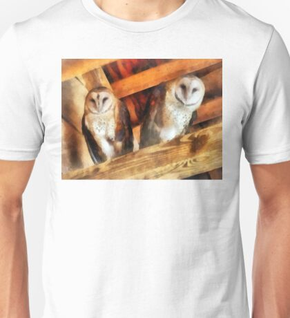 Two Barn Owls Unisex T-Shirt