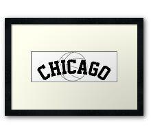 Chicago Basketball [BLACK] Framed Print