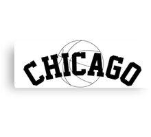 Chicago Basketball [BLACK] Canvas Print