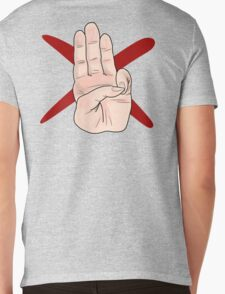 Three Finger Salute Mens V-Neck T-Shirt