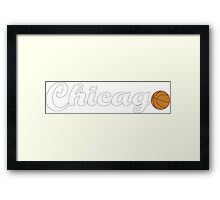 Chicago attached ball [WHITE] Framed Print