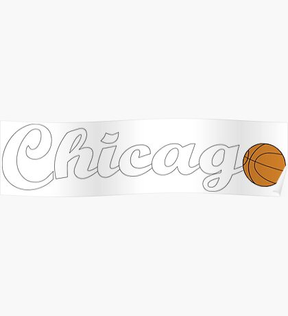 Chicago attached ball [WHITE] Poster