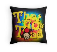 That 70s Toad Throw Pillow