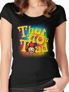 That 70s Toad Women's Fitted Scoop T-Shirt