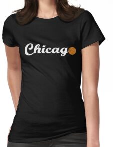 Chicago attached ball [WHITE] Womens Fitted T-Shirt