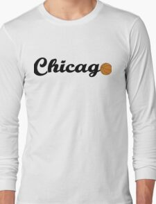 Chicago attached ball [BLACK] Long Sleeve T-Shirt
