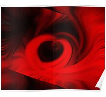Abstract in Red No-22 Poster