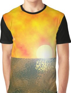 Golden Sunset iPhone / Samsung Galaxy Case Graphic T-Shirt