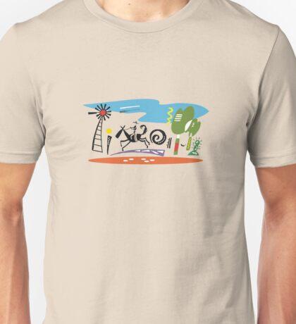 Stylish design of outback stockman riding horse  Unisex T-Shirt