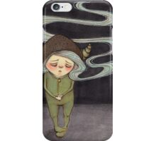 Sad Little Gnome Girl iPhone Case/Skin