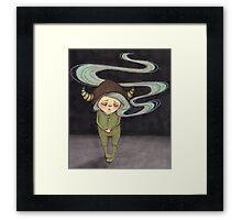 Sad Little Gnome Girl Framed Print