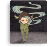 Sad Little Gnome Girl Canvas Print