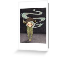 Sad Little Gnome Girl Greeting Card