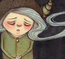 Sad Little Gnome Girl Sticker