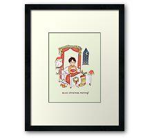 Accio Christmas Morning! Framed Print